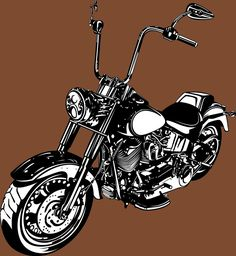 #illustration #drawing #chopper #choppermotorcycle #harleydavidson #choppersoldschool Chopper Motorcycle, Vector Illustrations, Art Inspo, Cowboys, Old School, Harley Davidson, Phones, Sketches, Base