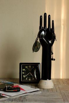 Vintage Black Porcelain Glove Mold