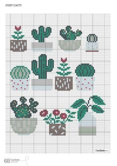 Readly - CrossStitcher - 68 - CrossStitcher is Britain's number one cross stitch magazine, and it's packed with beautiful designs for you to sti Cactus Cross Stitch, Cross Stitch Cards, Simple Cross Stitch, Modern Cross Stitch, Cross Stitch Flowers, Cross Stitch Designs, Cross Stitching, Cross Stitch Embroidery, Embroidery Patterns