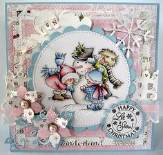 Fantastic dimension and colouring on this cute Christmas greeting. #cards #card_making #Christmas