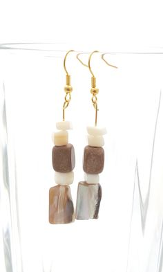 Handmade Gifts of Jewelry: Mother-of-pearl, jasper: One of a kind