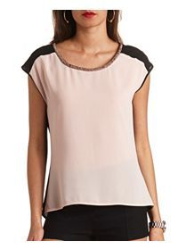 Chic Short Sleeve Shirts, Tees & Bodysuits: Charlotte Russe