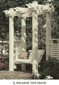 http://bit.ly/GUX0wZ    Arbor swing http://media-cache5.pinterest.com/upload/150729918748688762_YWfbuApE_f.jpg glorialynn outdoor ideas