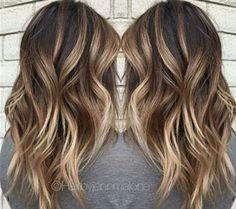 Caramel Machioato balayage hair