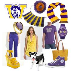 """""""For the Purple and Gold!"""" by heather-botteron-ocain on Polyvore"""