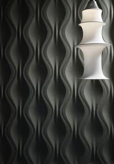 Panneau mural ONDA By Surface design Jacopo Cecchi, Romano Zenoni Surface Design, 3d Wandplatten, Panneau Mural 3d, 3d Wallpaper For Walls, Decorative Wall Panels, 3d Wall Panels, 3d Texture, Acoustic Panels, Acoustic Wall