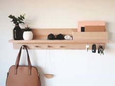 Home Architecture : Entryway Organizer – Wall mount coat rack Decor housewarming gift for home Mail holder entryway organiser key holder entryway shelf Entryway Coat Rack, Entryway Shelf, Coat Rack Shelf, Entryway Wall Decor, Entryway Organization, Wall Mounted Coat Rack, Coat Hanger, Entryway Wall Organizer, Coat Pegs