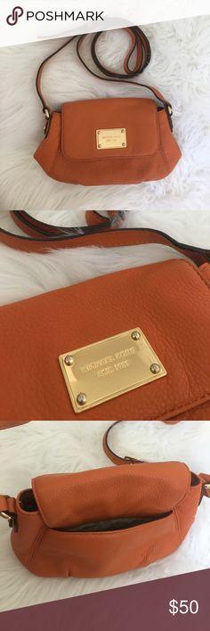 Michael Kors Crossbody Michael Kors orange leather mini crossbody bag Michael Kors Bags Crossbody Bags