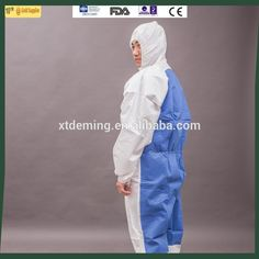 Disposable Two Color Protective Safety Clothing Coverall