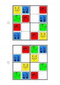 Des grilles de Sudoku 4x4 avec des animaux, adaptées aux élèves de maternelle et de primaire.