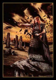 [CELTIC] The Battle triad Goddess Mórrígán-Badbh-Nemain (Howard David Johnson)