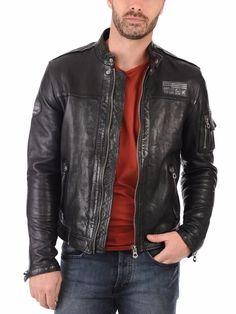 New Men Black Leather Jacket Genuine Lambskin Stylist Bomber Coat Biker SH-343 #Handmade #BasicJacket
