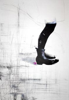 """Saatchi Online Artist: Tiina Kivinen; Etching, 2010, Printmaking """"Growth reserve"""""""