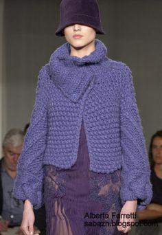 СТИЛЬНОЕ ВЯЗАНИЕ: Alberta Ferretti Вязание из толстой пряжи