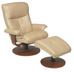 Nexus R-634 Series Duraleather Recliner and Ottoman by Stanley Chair