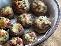 Shoot and Eat: Stuffed Button Mushrooms