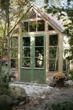 Our castle potting shed. Outdoor Buildings, Garden Buildings, Garden Structures, Greenhouse Shed, Greenhouse Gardening, Greenhouse Wedding, Outdoor Rooms, Outdoor Gardens, Outdoor Living
