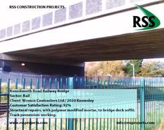 Repairs to Underside of Bridge Deck. Track Possession Working. http://www.rssprojects.com/Case Studies/kennilworth-road-railway-bridge