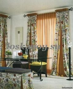 Drapery panels with complementary godets. Pleated Curtains, Window Curtains, Valance, Custom Window Treatments, Drapery Panels, Window Styles, Colorful Curtains, Curtain Designs, Window Design