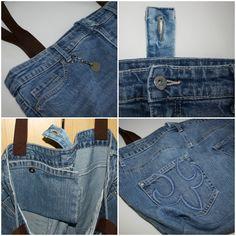 Upcycling: Einkaufstasche aus alten Jeans * Jeanstasche * Nähen * Upcycling * TascheEinkaufstasche A4