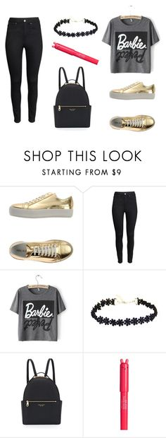 """Zapatillas Doradas"" by miki-sailorscout on Polyvore featuring Neil Barrett, H&M, Henri Bendel, women's clothing, women's fashion, women, female, woman, misses and juniors"