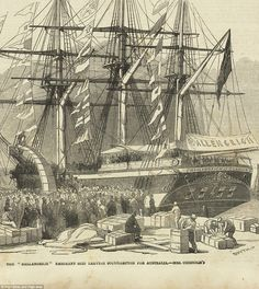 Large crowds of family members and friends would gather to see their loved ones off on a new adventure to Australia (pictured) - but they never could have been prepared for the troubles they faced on the voyage