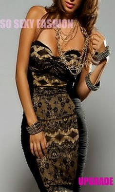 black & gold lace