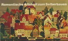 his is a 1981`s model from German kids magazine Kaukapedia. A great model, really. The city even has a castle and small details such as a water fountain.  More than twenty buildings to make a real nice medieval diorama.