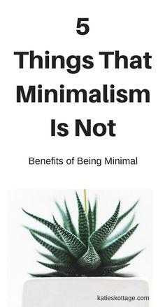 5 Things that Minimalism is Not   Benefits of Minimalism   Becoming Minimalist