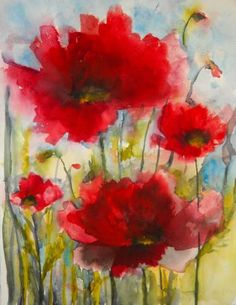 Red Poppies X