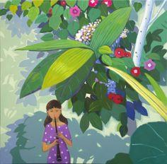 garden-summer / Oil on Canvas, 2013 / 65.0 x 65.0 cm (25.6 x 25.6 inch)