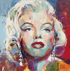 Marilyn Monroe, 190x190cm/74,8x74,9 inch, acrylic on canvas.