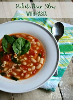 White Bean Stew with Pasta