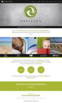 Appleton Creative Website -- Appleton is an award-winning, full-service #advertising & #marketing agency based in Orlando that works with local, national and international clients to help them grow and flourish. #webdesign #webdesigninspiration #responsive
