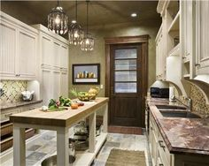 [ Narrow Kitchen Island Home Design Ideas Pictures Remodel Decor Great Narrow Kitchen Island ] - Best Free Home Design Idea & Inspiration Narrow Kitchen Island, Small Kitchen Pantry, Kitchen Pantry Design, Kitchen Pantry Cabinets, Modern Kitchen Design, Rustic Kitchen, Interior Design Kitchen, Kitchen Decor, Eclectic Kitchen