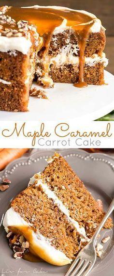Maple Caramel Carrot Cake