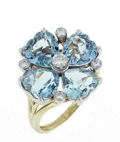 CARTIER COCKTAIL RINGS | CARTIER Aquamarine Diamond Ring at 1stdibs