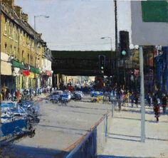 Andrew Gifford - Finsbury Park - 2012  Oil on panel 14 x 13¼ ins (35.56 x 33.66 cms)