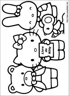 Ausmalbilder  ausmalbilder  Pinterest  Hello kitty Kitty and