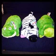 3 PeeWee Pillow Pets! NWT! All brand new with tags! From smoke and pet free home! Bought a ton for Christmas gifts and had 3 left over.  I miss counted by a long shot! Haha!   I'd like them to go as a trio but I will sell separately at $7. Other