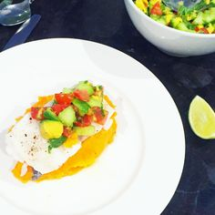 Serves 4 Ingredients 4 thick white fish fillets (I used Hake but have previosuly also used rockling) 2 medium sweet potatoes, peeled and cut into small chunks 3 medium parsnips, peeled and cut into small chunks 1 avocado, diced 1 …