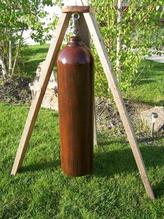 Wind Chimes Garden Bell Gong GIANT HUGE Patina Rust by ComeOnIn, $400.00