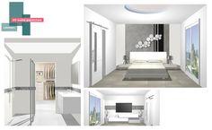 projet suite parentale | B_indoor | www.b-indoor.com/ #decoration #design #agencement #contemporain #art #mobilierdesign #amenagement #plans #douche #bathroom #salledebains #meublevasque #wcsuspendu #chambre #dressing #staff