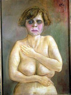 Otto Dix, Desnudo de medio cuerpo,1926.