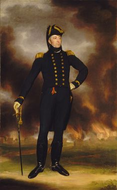 Rear-Admiral Sir George Cockburn, 1772-1853 . As a captain he was present at the battle of Cape St Vincent in February 1797 during the French Revolutionary Wars and commanded the naval support at the reduction of Martinique in February 1809 during the Napoleonic Wars. He also directed the capture and burning of Washington on 24 August 1814 as an advisor to Major General Robert Ross during the War of 1812. He went on to be First Naval Lord