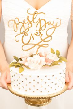 DESCRIPTION The Joyful Collection is a perfect fit for a lighthearted, exuberant wedding. Each piece is carefully crafted by hand to be an heirloom keepsake. - Available in two glam metallic colors: g