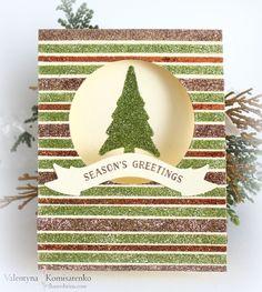 Glitter Tree Christmas Card