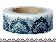 Masking Tape - Washi Tape MUSTER schwarz und  weiß - ein Designerstück von Fitzi-Floet bei DaWanda