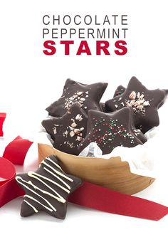 Low Carb Keto Chocolate Peppermint Star Cookies