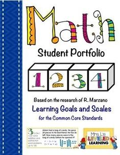 2nd Grade Math Student Portfolio Pages with Marzano Scales - FREE!: